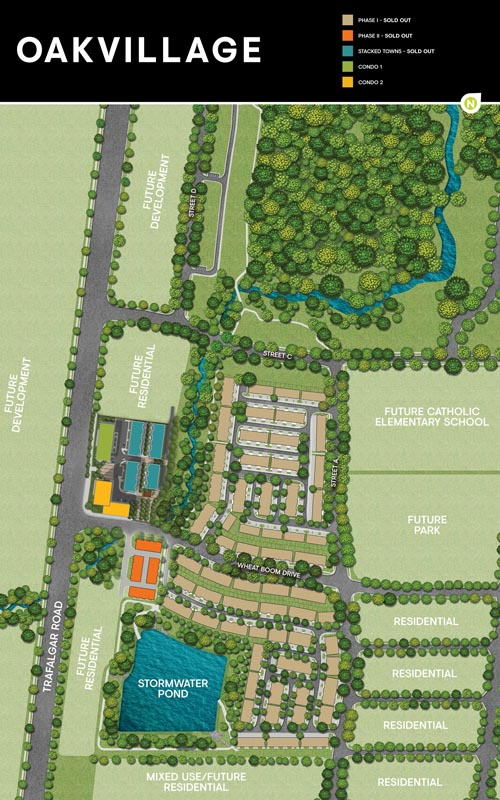 Oakvillage Master Plan Map
