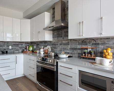 Kitchen, Tahoe End, Avenue Townhome, Morgan's Creek