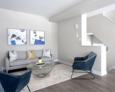 Living Room, Canal, Avenue Townhome, Morgan's Creek