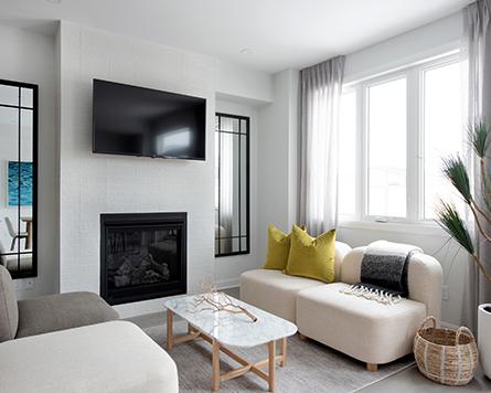 Living Room, Laguna, Executive Townhome, Morgan's Creek