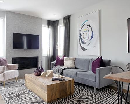 Living Room, Tahoe End, Executive Townhome, Morgan's Creek