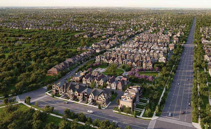 Union Village in Markham Adds Variety to Typical Subdivision Typology
