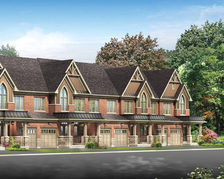 Whitby traditional townhomes, located near nature trails and creeks, now on sale