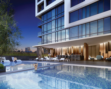 Minto Westside amenities include a rooftop pool and lounge, part rooms and a gym