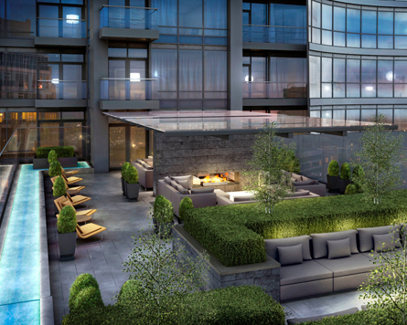 Minto Yorkville Park, a high rise condo with rooftop lounges, is now on sale.