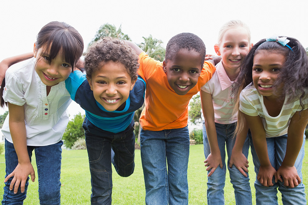Kids posing in park. Schools near Quinn's Pointe in Barrhaven.