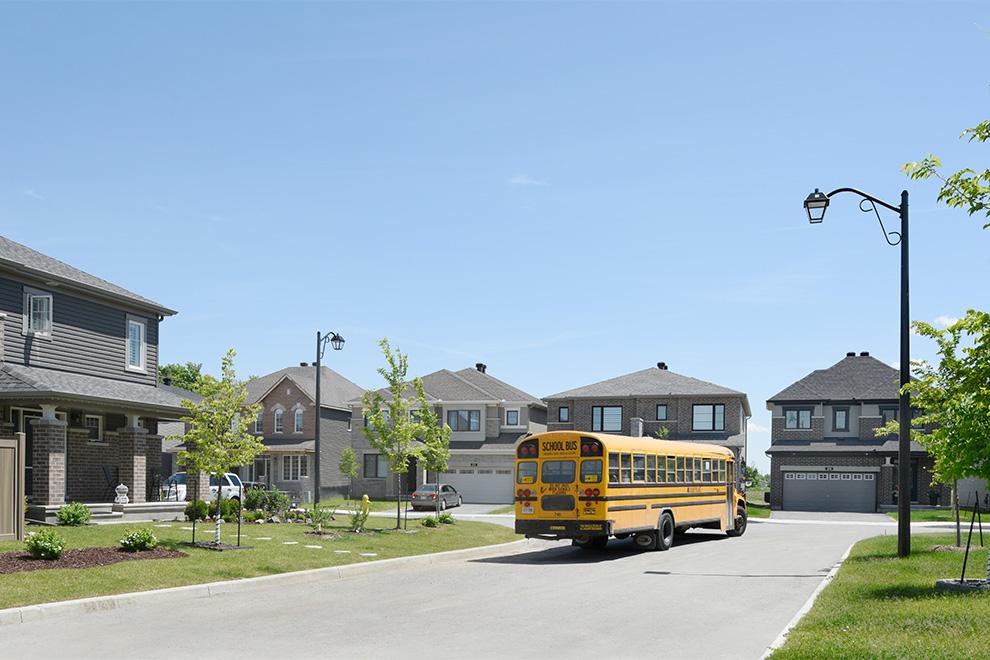 Ottawa school bus. School's near Quinn's Pointe in Barrhaven.