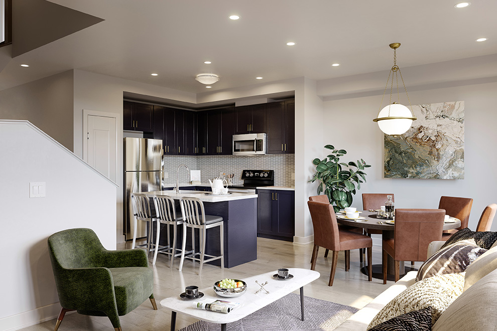 Spacious living area in an Executive Townhome in Barrhaven. Harmony's collection of homes is growing.