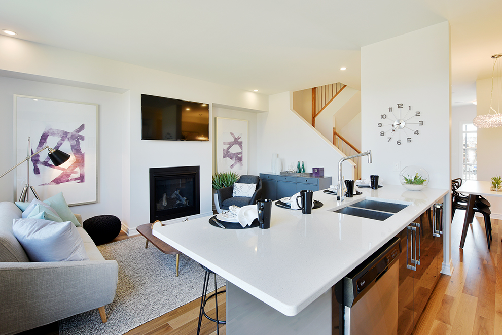 Open concept airy kitchen by Minto Communities Ottawa. Harmony in Barrhaven, Phase 3 Release.