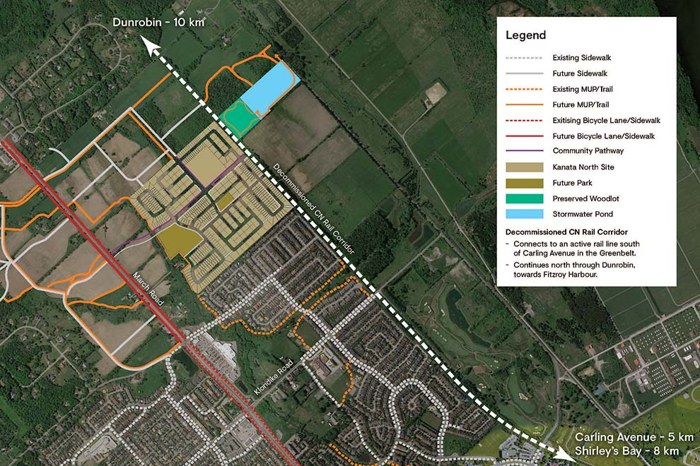 Connection plan for Brookline, Kanata
