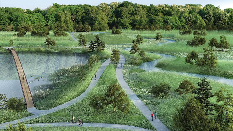Carp River restoration plan. Explore nature around Kanata.