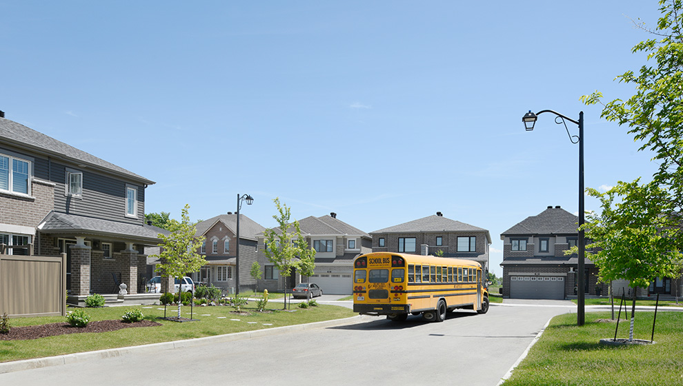 School bus driving around the streets of Kanata. How to find the right Ottawa school for your child.