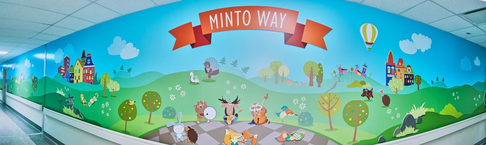 The Minto Way hallway dedication at CHEO