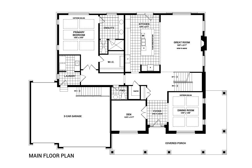 The Caraway main floor layout