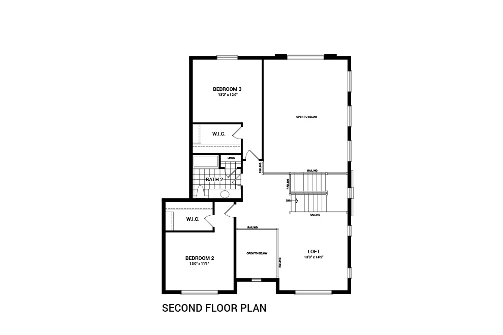 The Caraway second floor layout