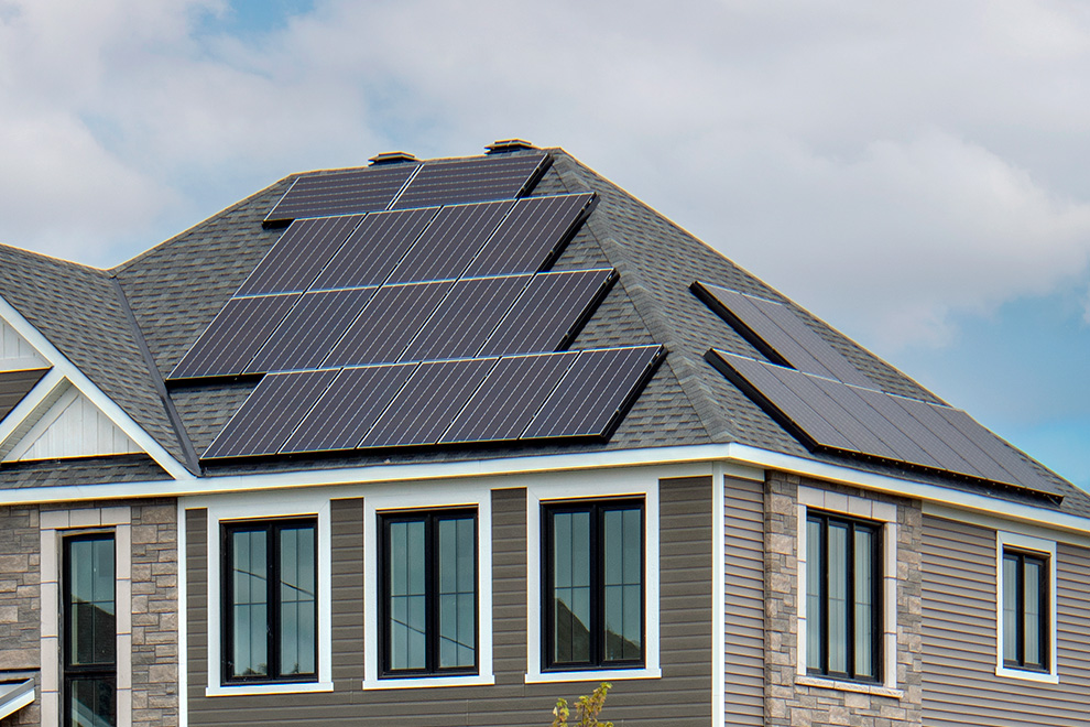 Solar panels on the 2021 Minto Dream Home