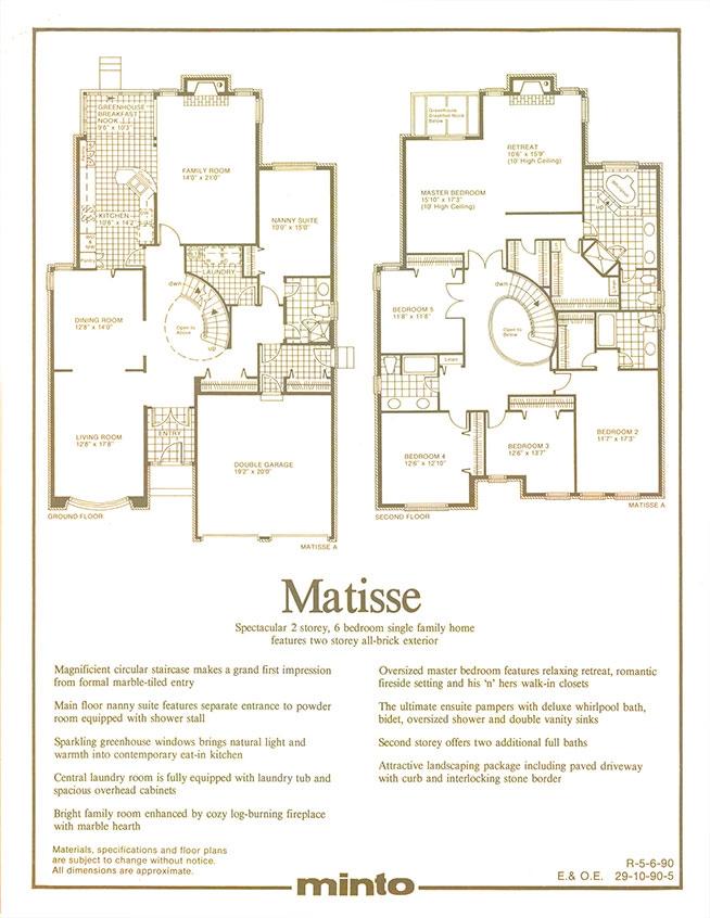 Matisse: Floorplan