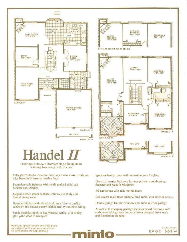 Handel II: Floorplans
