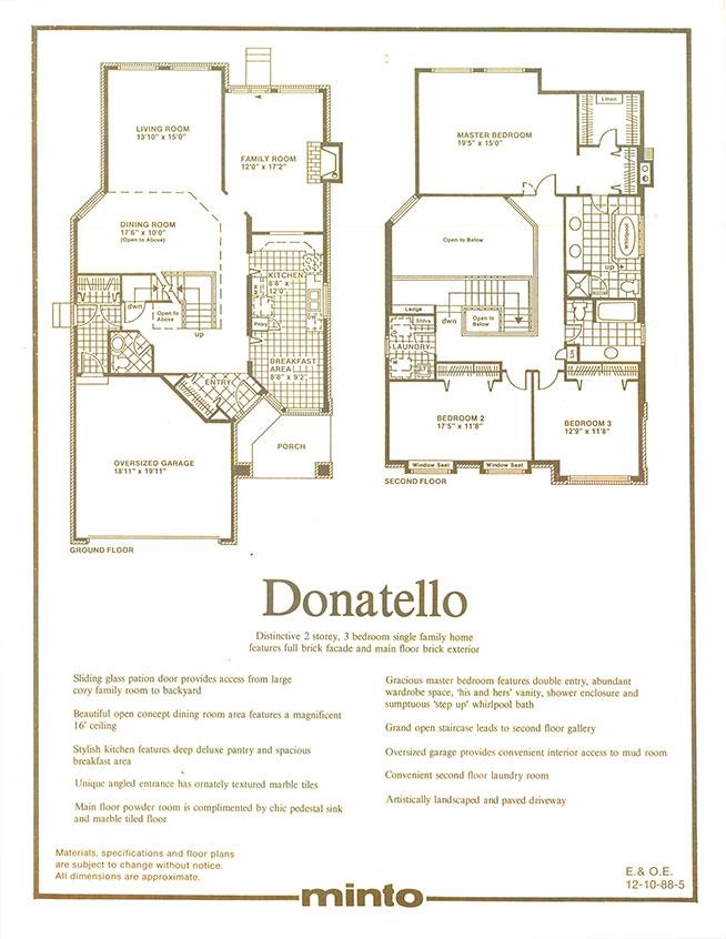 Donatello: Floorplans