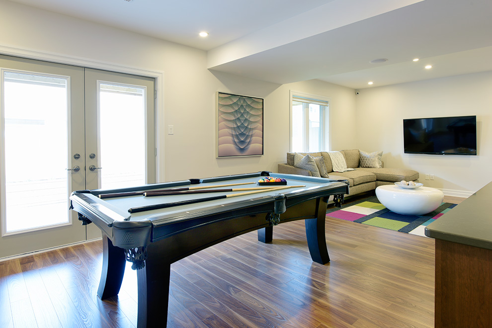 Game Room in Single Family Home
