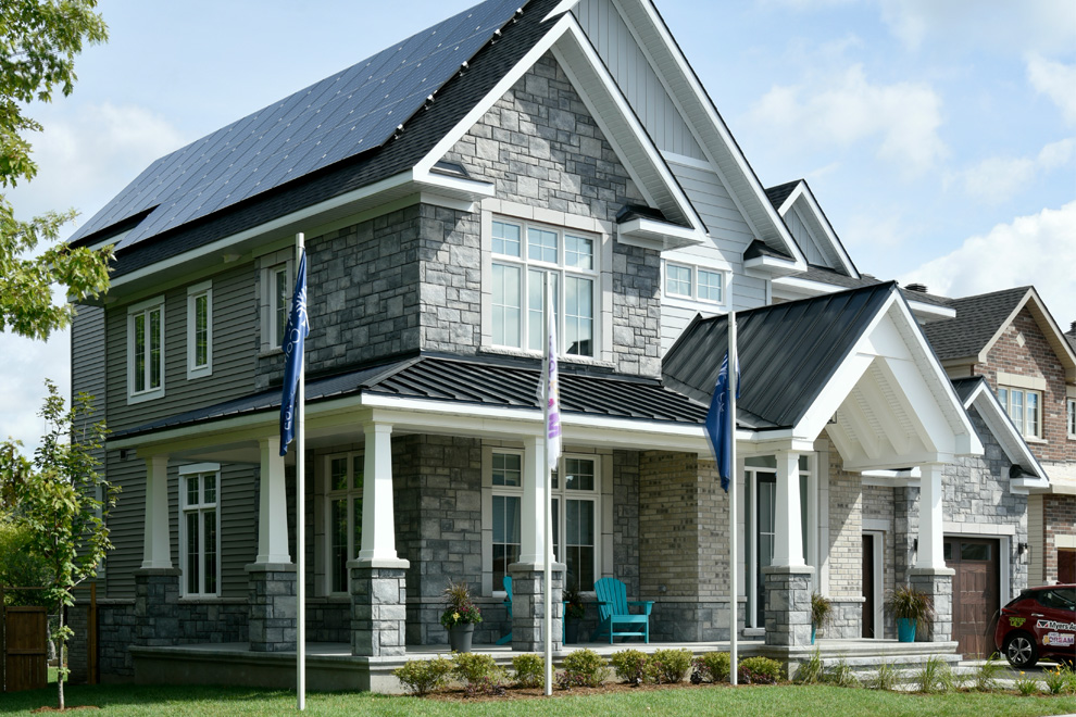 The 2019 Minto Dream Home for CHEO with solar panels on the roof