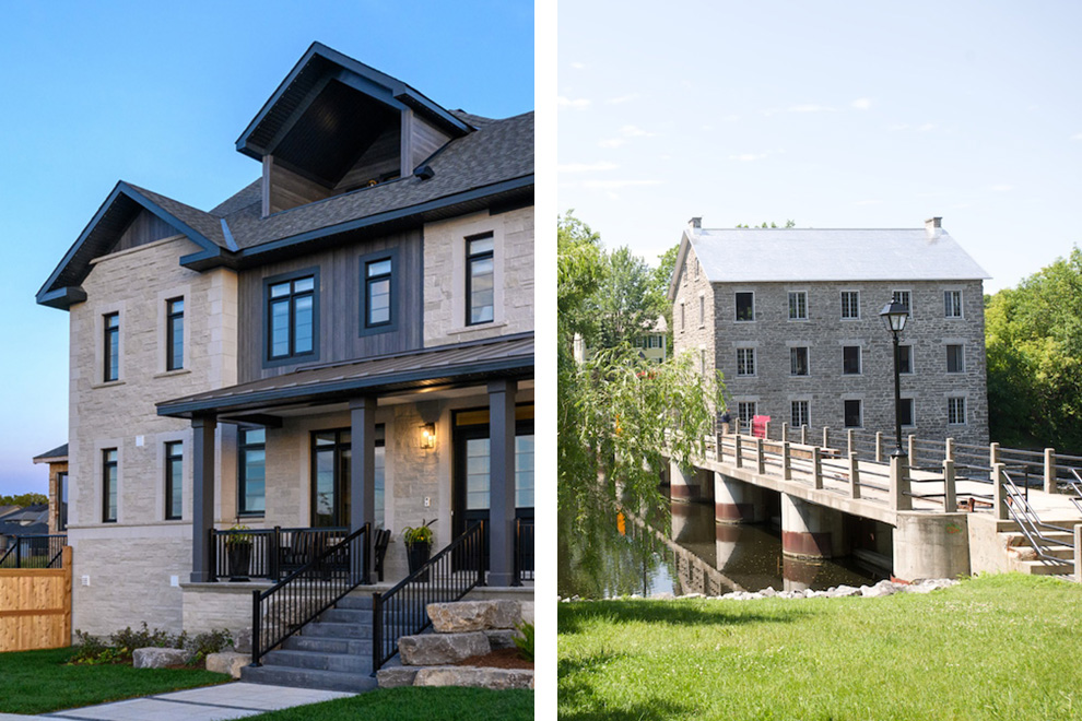 Side by side exterior comparison of the Bohemian and Watson's Mill