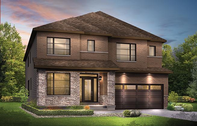 Mackenzie D Single Family Home, located in Quinn's Pointe, Ottawa