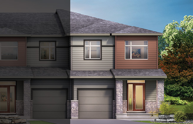 Executive Townhome – Monterey End Model