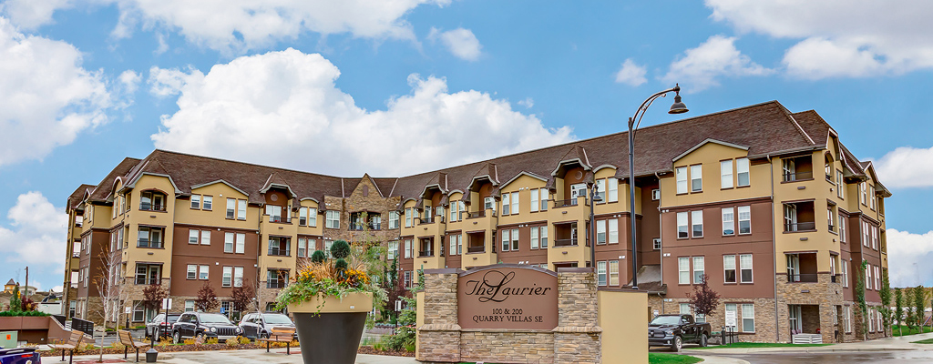 Exterior of The Laurier Apartments in Calgary. Rent with Minto Apartments.