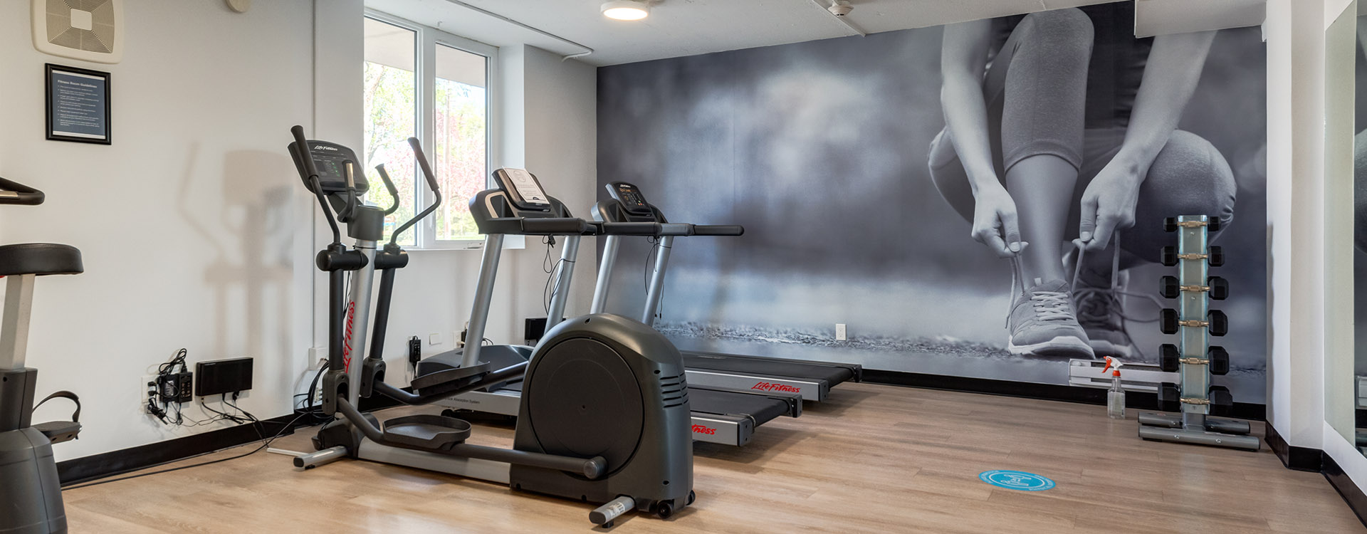 Large fitness centre at Minto Apartments Hi Level Place