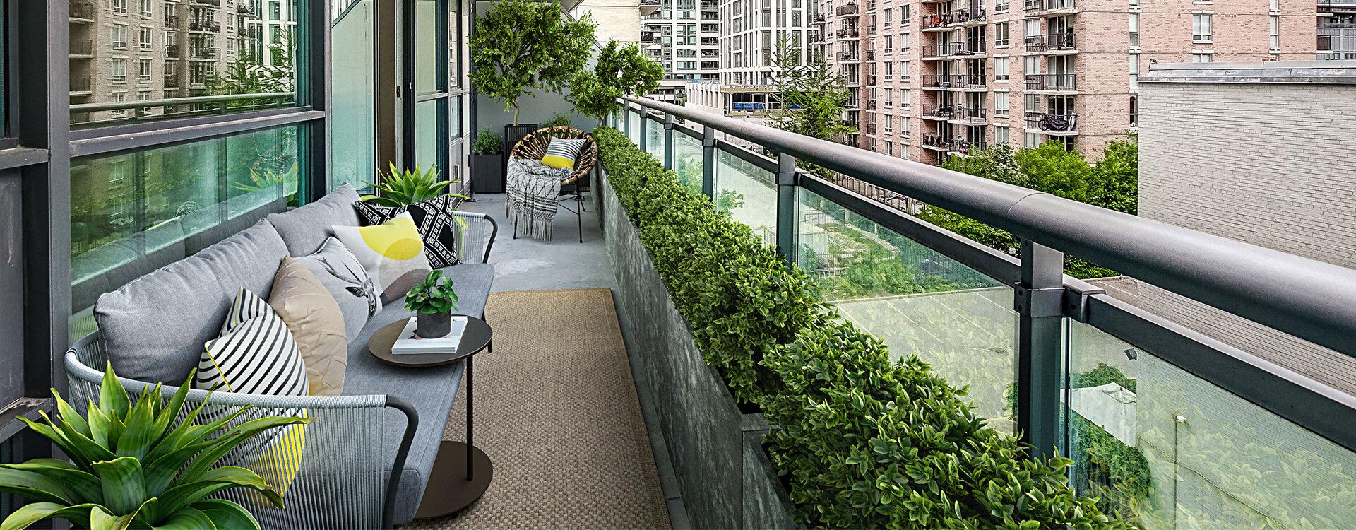 Scandinavian balcony at Minto Apartments Roehampton Ave