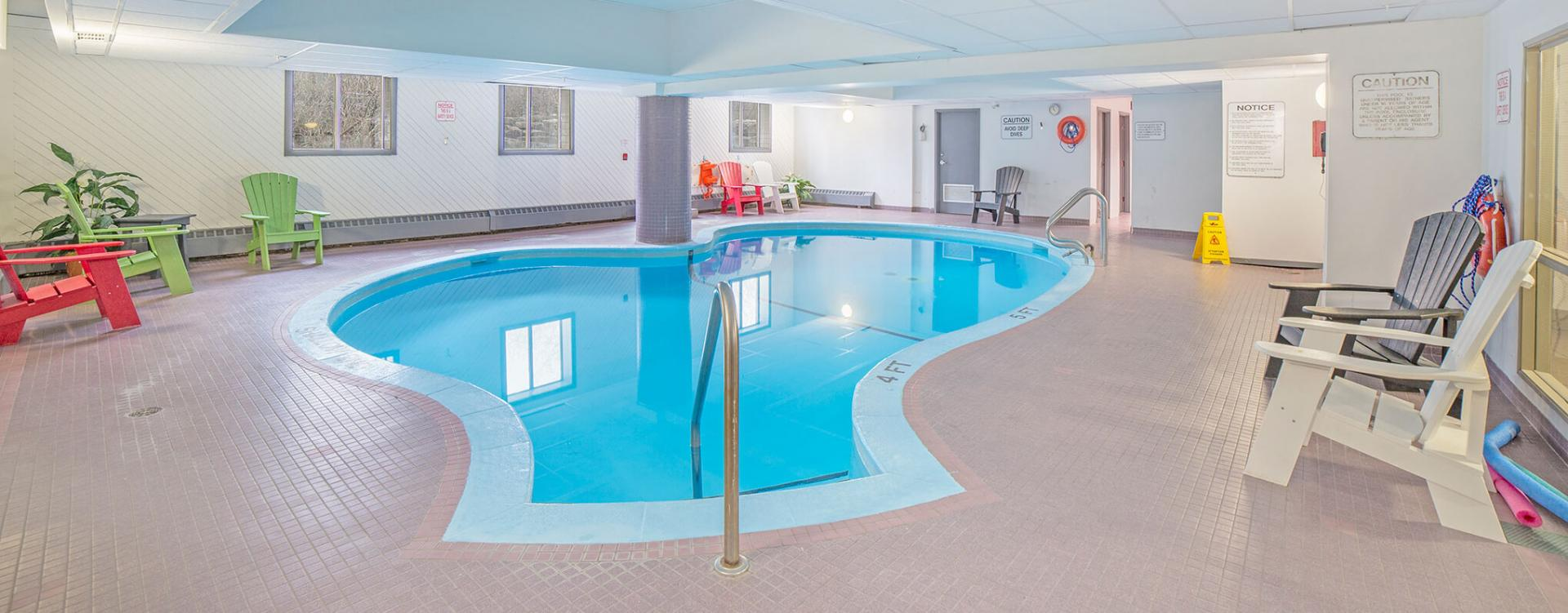 Indoor pool at Castle Hill in Ottawa
