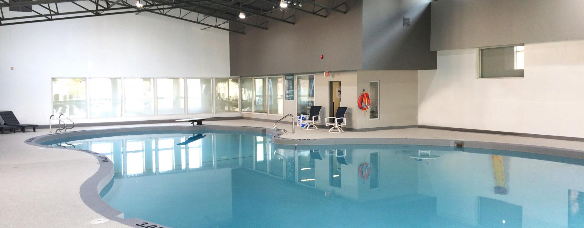 Indoor pool at Parkwood Hills apartments in Ottawa.