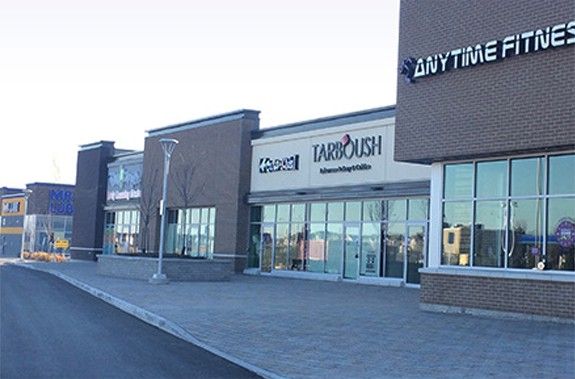 Outside view of mall. Amenities and conveniences in Orléans.
