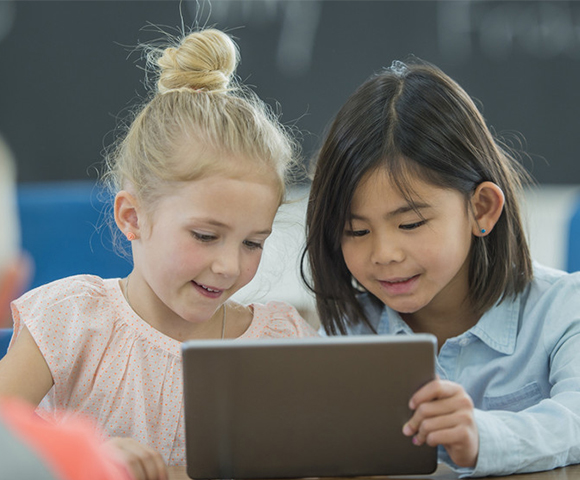 Kids learning at school