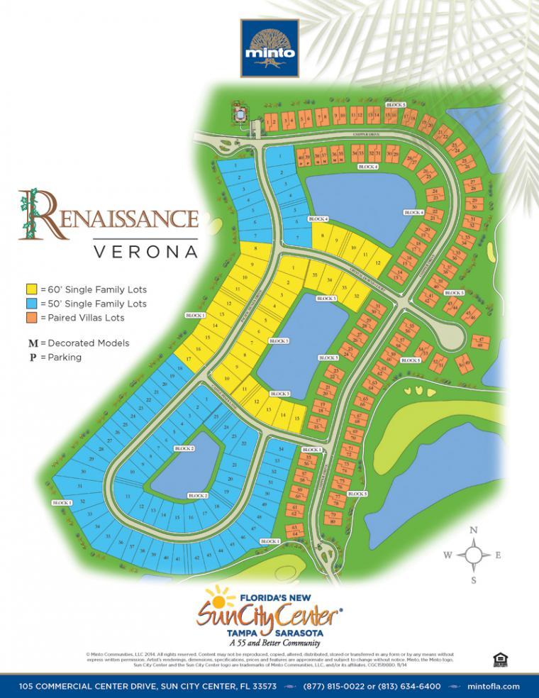 Verona home siteplan