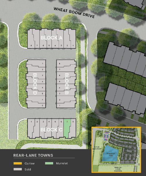 Site Plan for Rear Lane Townhomes in Oakvillage. Condos & Townhomes for sale in Oakville by Minto Communities