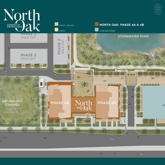 Oakvillage phase 4 site plan. Condos for sale in Oakville by Minto Communities