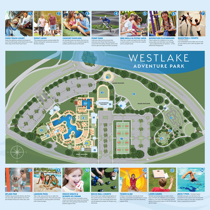 Adventure park site plan at Westlake, in Palm Beach County