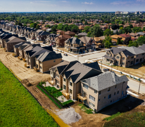 Overview of new housing community in Whitby. New homes for sale in Ivy Ridge by Minto Communities.