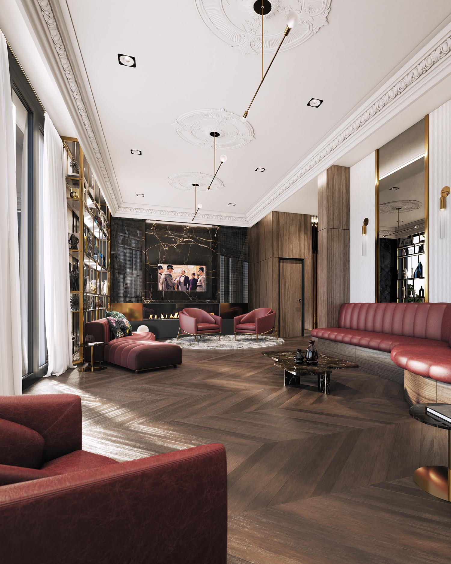 The Lounge at 123 Portland is a space of luxury and relaxation