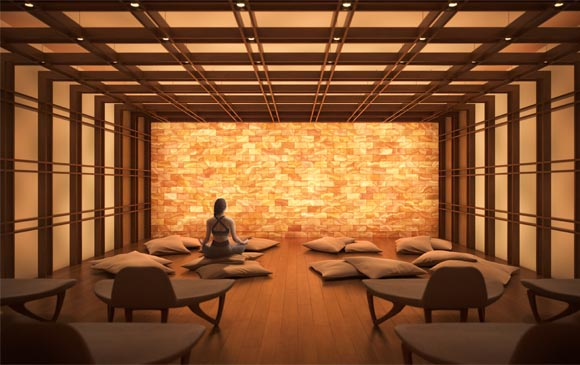 Salt Room at The Saint, Minto Communities. Amenities for the new condos for sale at Church & Adelaide, Toronto.