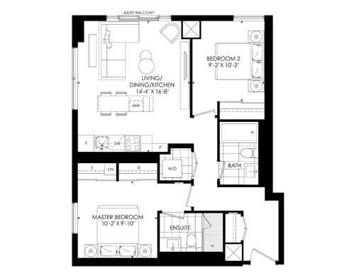 A sample two bedroom suite at The Saint