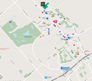 Map of Amenities in Kanata near Brookline, Minto Communities