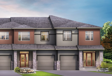 Render of Townhomes for sale in Orléans Ottawa, Avalon by Minto Communities