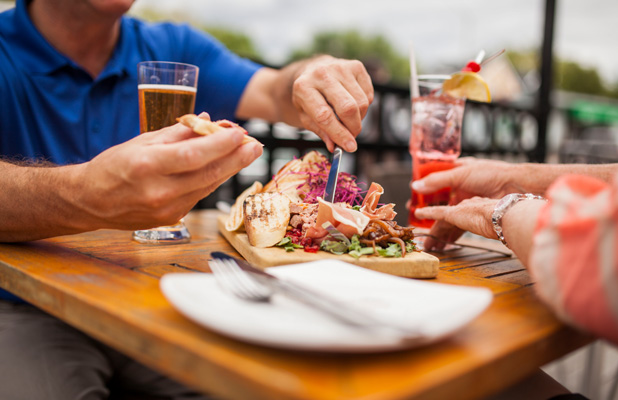 Eating on a patio in Ottawa. 9 Great Reason to Live in Manotick.