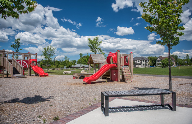 Childrens playground near Mahogany. 9 Great Reason to Live in Manotick.