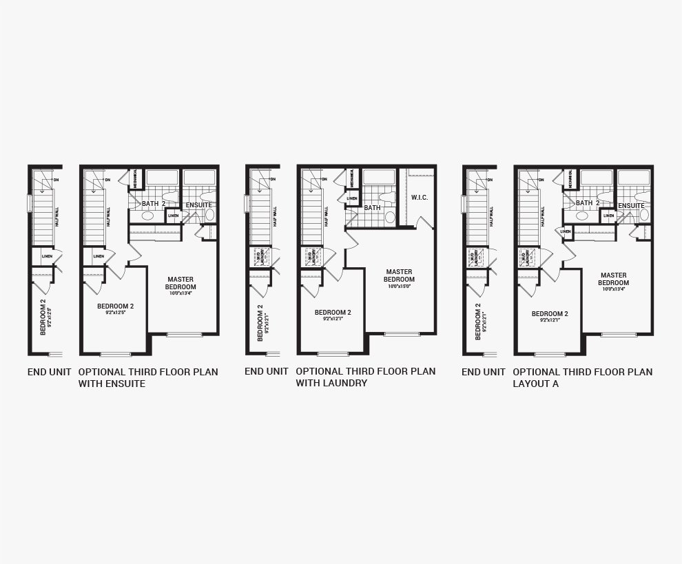Floorplan of the flex plans of the Downing home design, a Avenue Townhome available for sale in Avalon, Orleans.