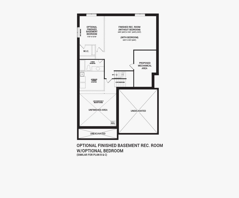 Floorplan of the flex plans of the Quinton with Guest Suite home design, a 43' Single Family Home available for sale in Quinn's Pointe, Barrhaven