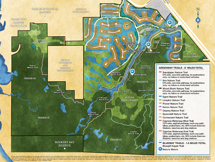Nature Blueway and Greenway Trail Guide for The Isles of Collier Preserve. New homes for sale in Naples, Florida by Minto Communities.